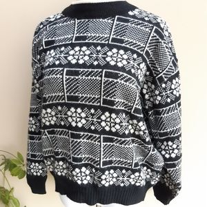 Vintage Snowflake Wool Sweater